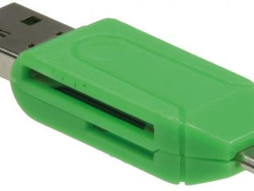 Card Reader für Tablets & Smartphones USB & Micro USB Stecker