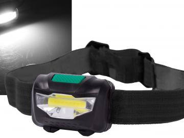 LED-Stirnlampe 'HeadLight COB' 3W inkl. 3x AAA Batterien