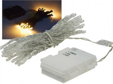 "LED Batterie-Lichterkette ""CT-TK50"" 5m warmweiß, IP44, 50 LEDs, mit 6 Std.Timer"