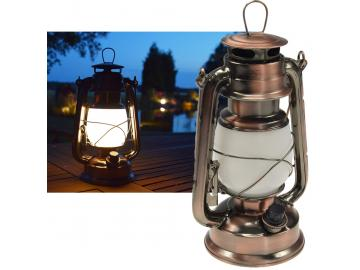 LED Camping Laterne 'CT-CL Copper' ØxH 12x23,5cm, 4x AA, warmeiß, dimmbar