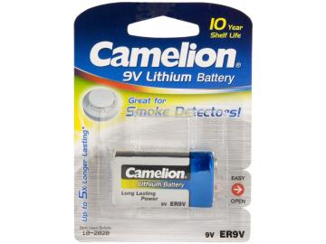 9V-Block-Batterie CAMELION Lithium 1200mAh, ideal für z.B. Rauchmelder