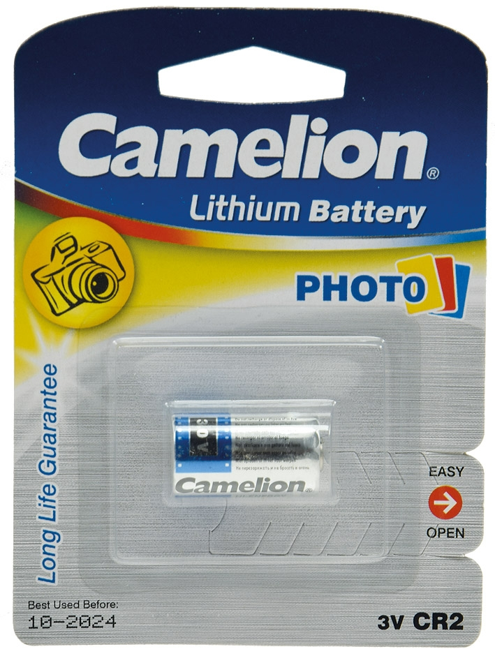 Lithium-Photozelle CAMELION CR2 3V - 850 mAh , 27,2x15,2mm
