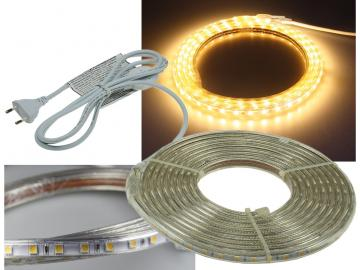 "LED-Stripe ""Ultra-Bright"" 230V, 5,0m 600 Lumen/Meter, warmweiß"