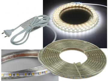 "LED-Stripe ""Ultra-Bright"" 230V, 5,0m 630 Lumen/Meter, weiß"