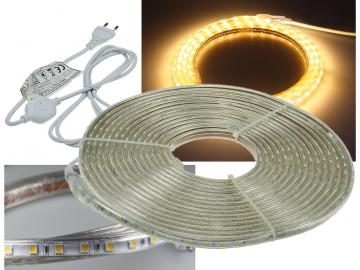 "LED-Stripe ""Ultra-Bright"" 230V, 10m 600 Lumen/Meter, warmweiß"